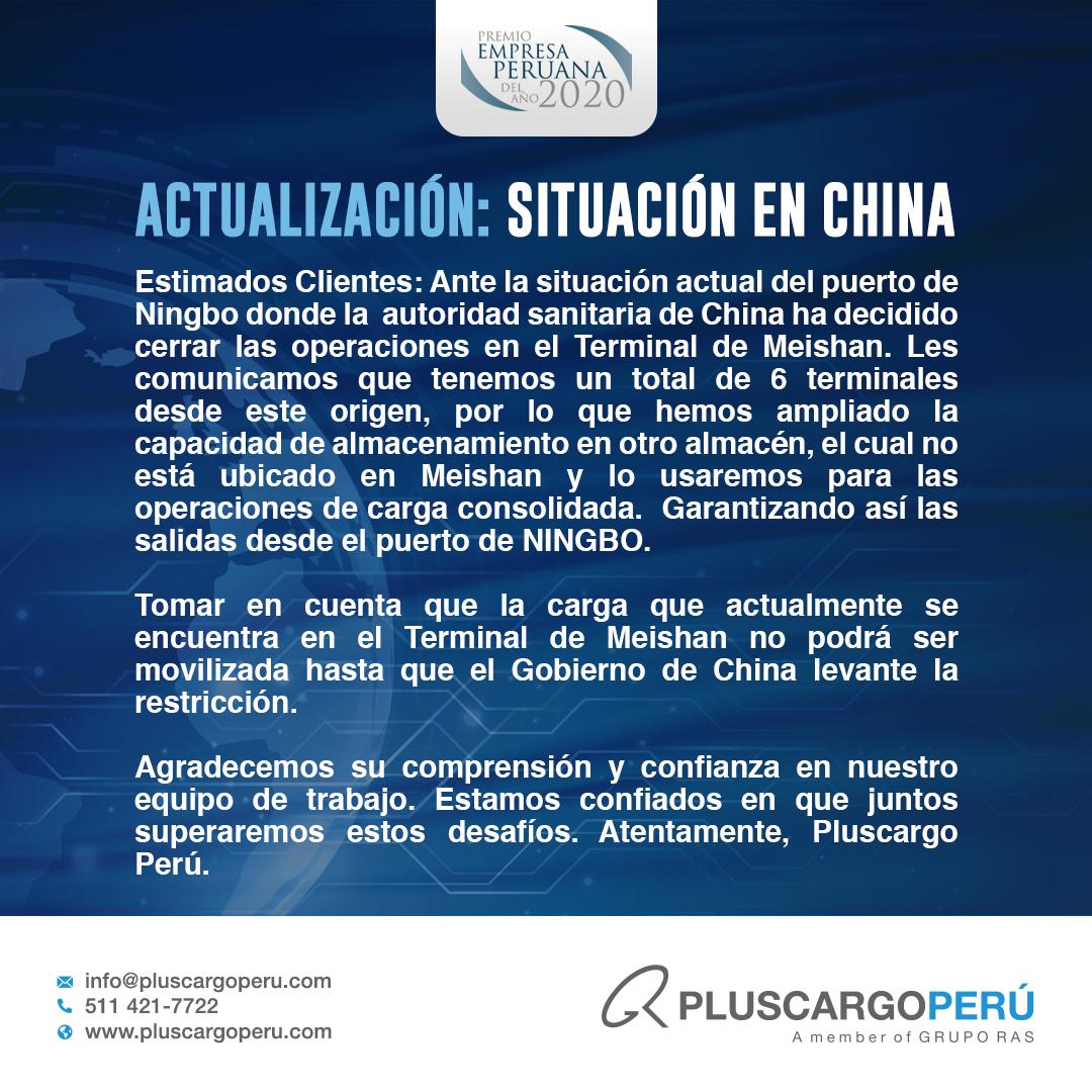 Actualización: Situación en China
